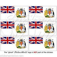 "BRITISH ANTARCTIC TERRITORY Flag UK Mobile Cell Phone Mini Decal-Sticker 1,6"" x6"