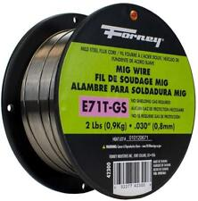 Forney 42300 Flux Core Mig Wire Mild Steel 030diameter 2pound Spool Silver 1pcs