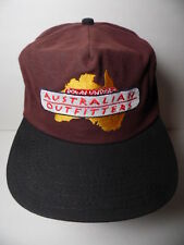 Vintage 1990s AUSTRALIAN OUTFITTERS Down Under ADVERTISING HAT ADJUSTABLE CAP