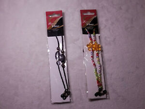 Fashion In View Eyeglass Cords 26 Inches Long Multi Color and Black Set of 2 New