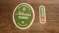 OLD 1960s DENMARK BEER LABEL, ALBANI BREWERY ODENSE, PILSNER