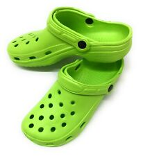 New Unisex Water Shoes Size 1 Green Sandals Clogs Slip On Summer Pool