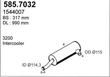 ASSO LKW Auspuff HSD VOLVO F10 + F12 TD100 + TD120 + TD120F
