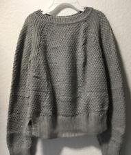 GAP KIDS size 10 Large Gray Crewneck Chunky Knit Sweater