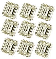Emerald Moissanite Diamond 4 Ring 5.60ct Vvs1/14pc-(0.20-0.60ct)Ne ar White Loose