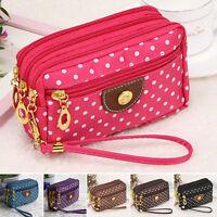 Womens Cloth Zip Fashion Wallet Clutch Card Holder Coin Purse Small Handbag P22
