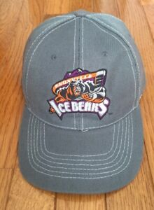 Awesome Knoxville Ice Bears SPHL Gray Adjustable Hat - NEW!
