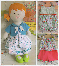 Tilly Rag Doll - Sewing Craft PATTERN - Cloth Dolls Clothes