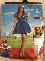 NEW Women's Super Mario Bros Halloween Costume Complete S (4-6)