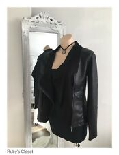 Sunny Girl Black faux leather/ suede Jacket/ New with Tags / Size 8 / 10 / 12