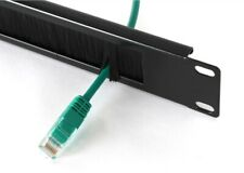"""More details for cable management brush tidy bar 1u 19"""" network rack! thick"""