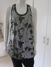 SPARKLE & FADE Urban Outfitters Green Semi Sheer Sequin Racerback Tank Top Sz M