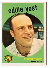 1959 Topps #2 Eddie Yost Detroit Tigers EX Plus to EX-MT