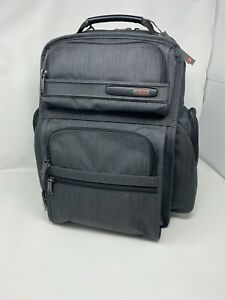 TUMI 0263578CHRO T-Pass Business Brief Pack Ballistic Nylon Charcoal NWT