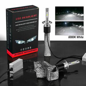 2Pcs H7 LED Fanless CSP Headlight Bulbs Conversion Kit Car 6000K White Head Lamp
