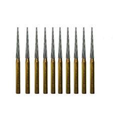 Orthodontic Debonding Dental Carbide Burs 10 Burs Finishing Tapper FG 8104
