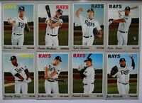 2019 Topps Heritage High Number Tampa Bay Rays Base Team Set Of 8 Cards Lowe RC