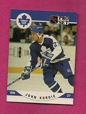1990-91 PROSET # 536 LEAFS JOHN KORDIC ROOKIE CARD (INV# A2971)