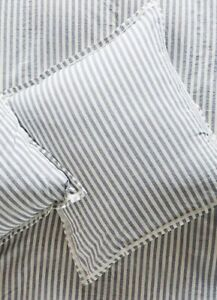 New Anthropologie Relaxed Cotton-Linen Striped Euro Sham