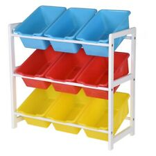 Kids Toy Organizer Storage Bin Box Wood Frame Shelf Rack Playroom Bedroom