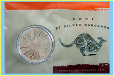 2002 $1 Kangaroo Silver Frosted Uncirculated 1 oz. Coin
