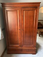 Large Wooden Double Wardrobe