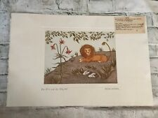 "Original Etching Aida Whedon ""The Lion and the Lily"" Pencil Signed Artist Proof"