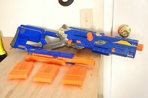 NERF Longstrike CS-6 Sniper Rifle with Front Barrel + 3 Clip