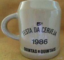 "Vintage Beer Stein Festa da Cerveja 1986 Quintas e Quintais Lufthansa 4"""