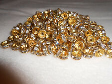 50 - 8mm mixed jeweled wedding ring beads