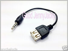 AUX Cable 3.5mm Male Audio Plug Jack to USB 2.0 Female Converter Cord Play MP3