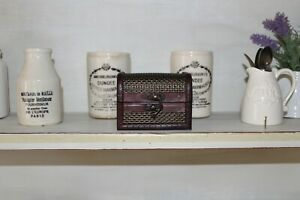 Small Miniature Vintage Antique Style Trunk,Chest,Box,Keepsakes,Jewellery,Keys