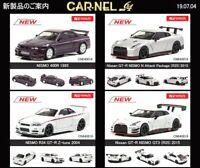 1:64 Kyosho CAR.NEL Nissan Skyline GT-R NISMO 400R,R34 Z-Tune,R35 N Attack,GT3 S