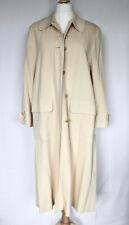 ESCADA - MARGARETHA LEY Long Cream Wool Coat. SIZE 14-16