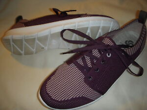 Clarks Step Allena Sun CloudSteppers Lace-Up Sneakers Shoes Womens 8 M Aubergine