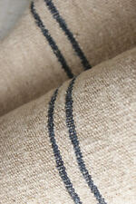 Linen Fabric Antique HEAVY NUBBY 18th-early 19th HEMP indigo blue 4.1 yard RARE
