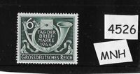 MNH WWII Germany stamp / Third Reich / 1944 Stamp day / Hitler's Culture fund