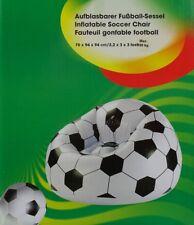 Fußballsessel Fußball Sessel Sitzkissen Sitzsack aufblasbar 70 x 94 cm NEU OVP