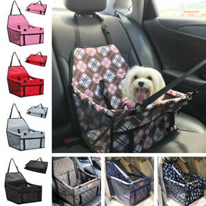 Dog Car Seat Portable Pet Booster & Clip-On Safety Leash Waterproof Collapsible