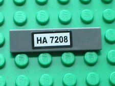 LEGO City Tile 1x4 Black HA 7208 Sticker Set 7208 Fire Station