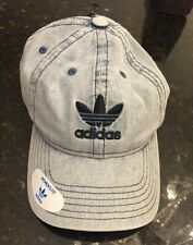 5eff99a3d84 NWT-ADIDAS Originals Relaxed Fit Strapback Denim Hat Boost OSFA Dad Hat Cap