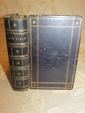 Antique Book Of The Holy Bible, Containing The Old And New Testaments - c1870