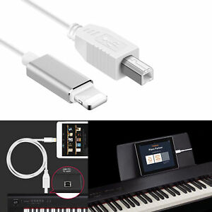 8Pin to MIDI Cable USB 2.0 Cable Type-B High Speed Keyboard Cord for iPhone iPad