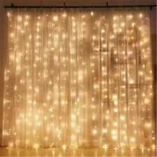 Twinkle Star 300 LED Window Curtain String Light Wedding Party Home Garden