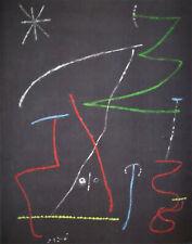 JOAN MIRO - MYSTERY - ORIGINAL POCHIOR - 1957 -  FREE SHIP IN THE US  !!!