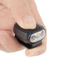 3 LED Clip On Cap Hat Brim Head Light Lamp Flashlight For Fishing Camping