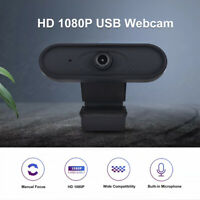 1080P HD USB 2.0 Webcam Camera for Desktop Laptop PC Video with Microphone