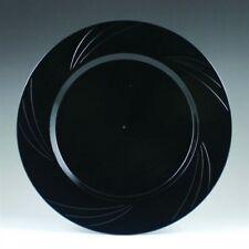 "Newbury Black Plastic Desert Plates 6.5"" (15 Pack )"
