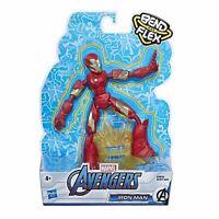 Avengers Curva Y Flex Iron Man Figura de Acción Niños Juguete