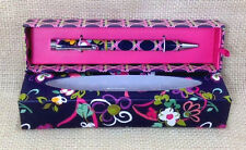 Vera Bradley Ribbons Ball Point Pen Gift Box Black Ink New Breast Cancer Pink